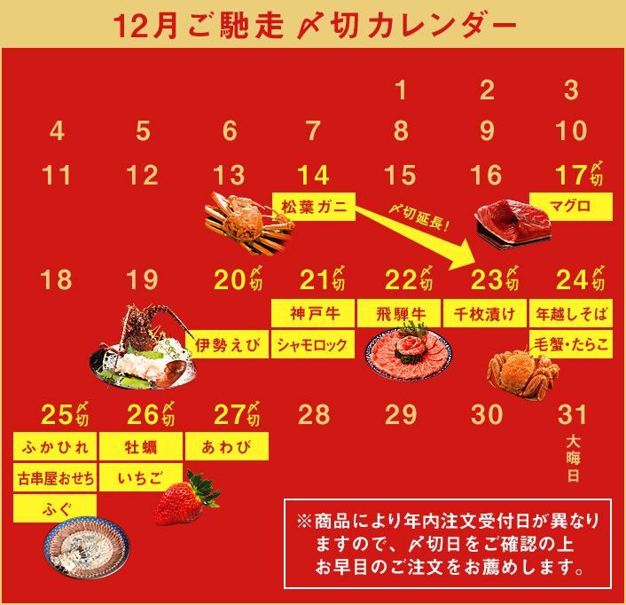 12月〆切カレンダー