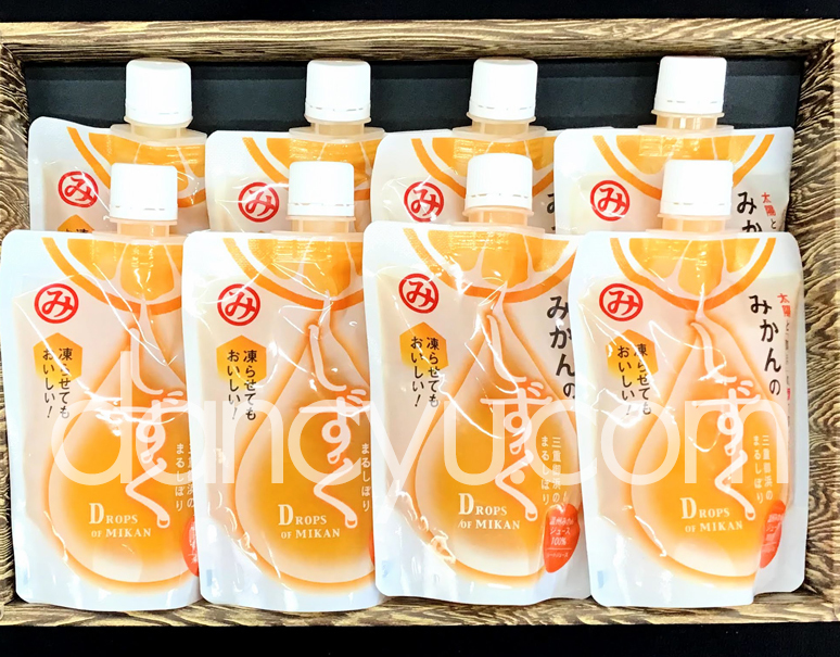 【御浜柑橘】温州みかん果汁100%『みかんのしずく』 200ml×8個入の写真