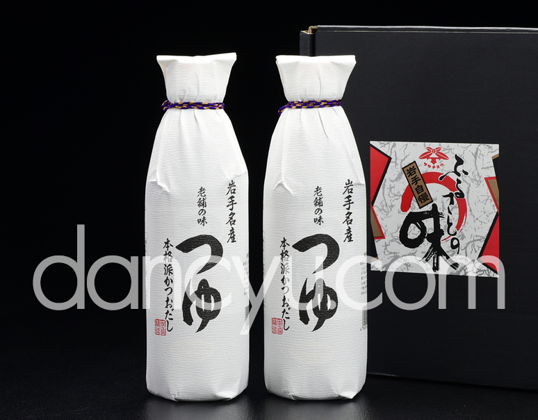 『佐々長醸造・老舗の味つゆ』500ml×2本 化粧箱の写真
