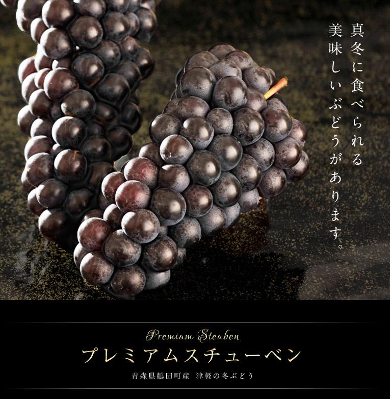真冬に食べられる美味しいぶどう プレミアムスチューベン 青森県鶴田町産津軽の冬ぶどう